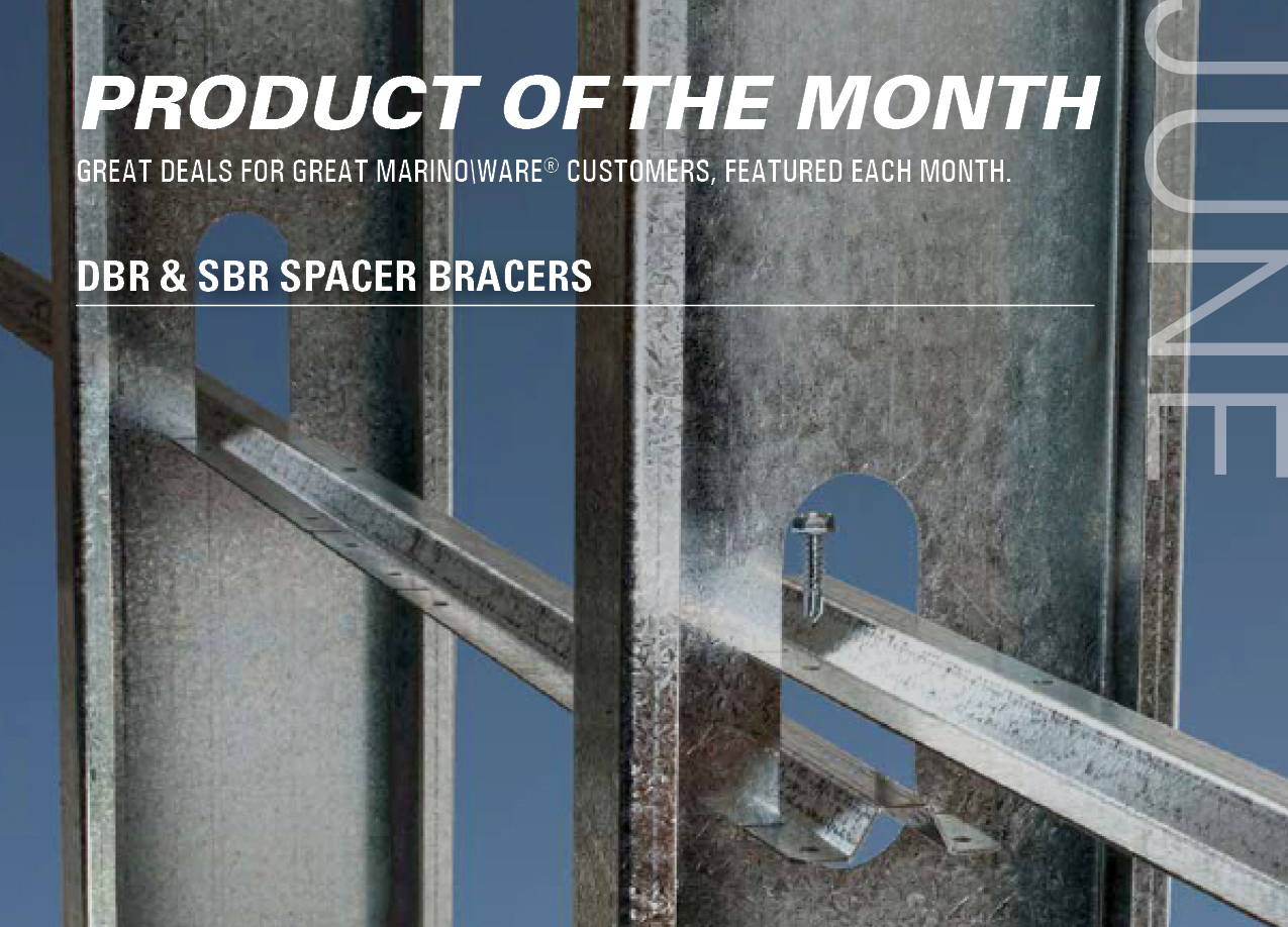 Spacer Bracer, JoistRite, Light Gauge Metal Framing